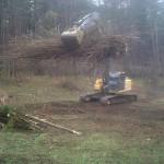 Excavator on  Cleaning Job